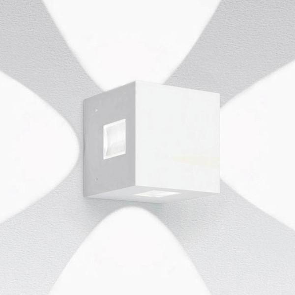 Artemide Outdoor Effetto 14S LED 4L Wandleuchte, 4 x 50°, hellgrau