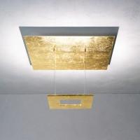 Zen Deckenleuchte 8-flg., Blattgold, ohne Dimmer