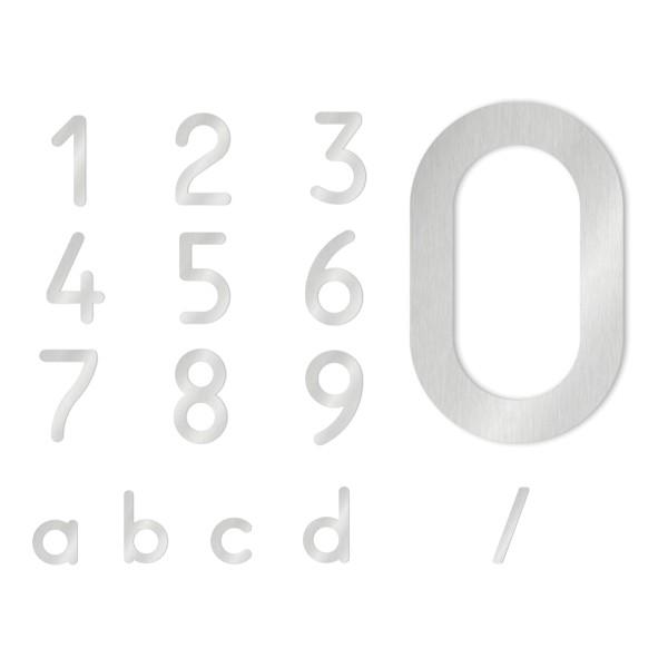 Heibi Hausnummer, Edelstahl