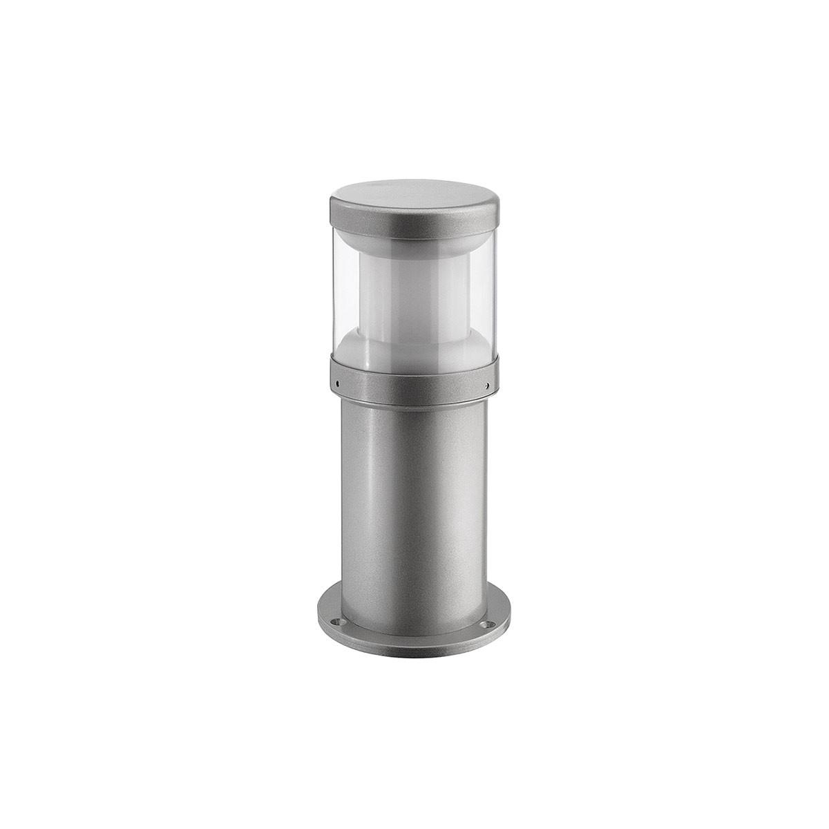 LCD Außenleuchten 1270/1271/1272 Pollerleuchte, Höhe: 35 cm, Silber