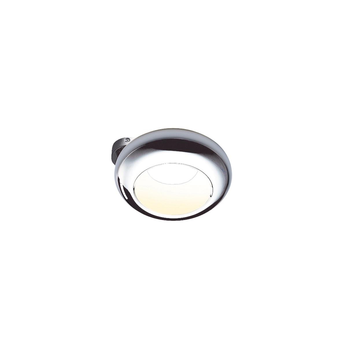 Sompex Aura 01 Mount LED Wand- / Deckenleuchte, Ø: 25 cm, Chrom