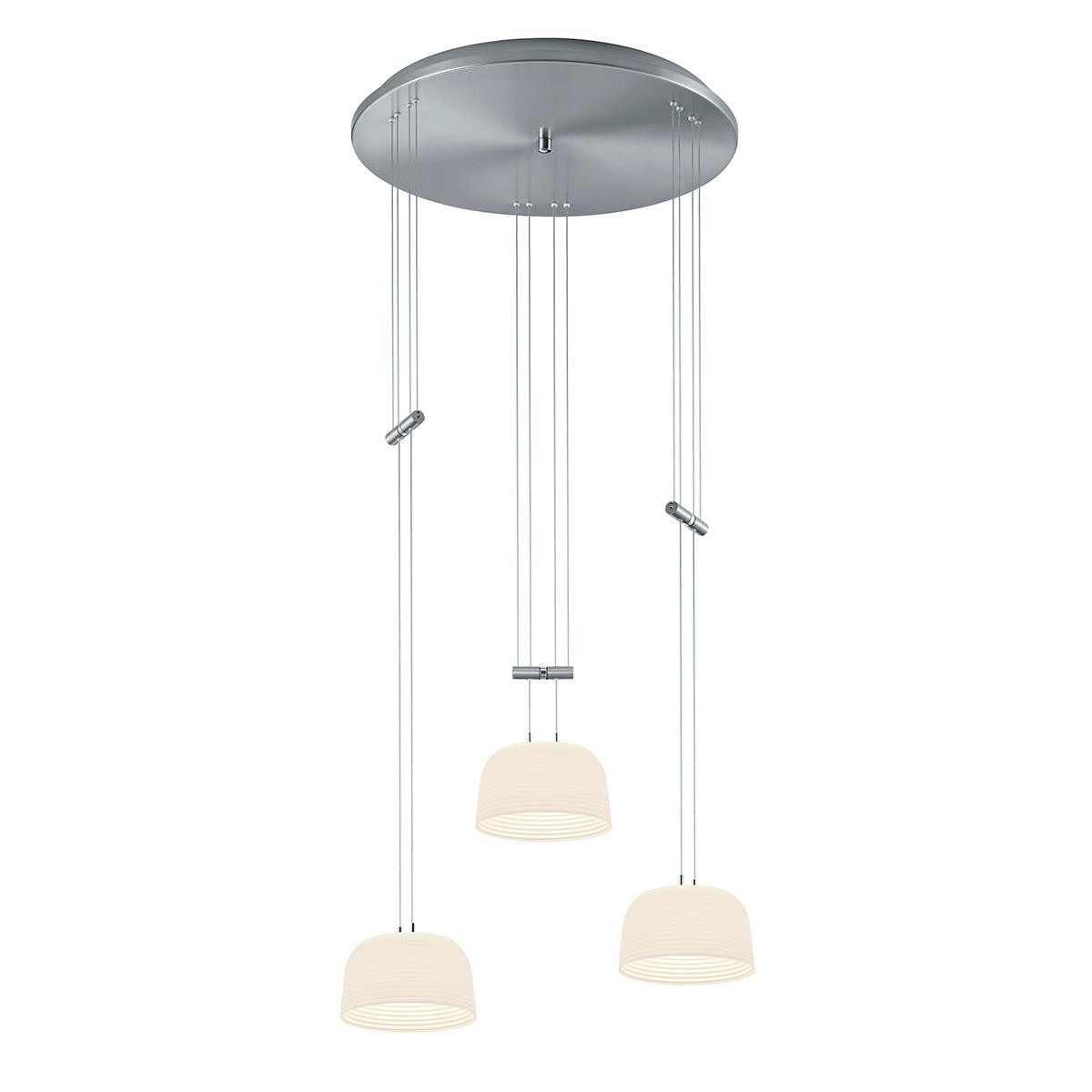 Bankamp Nelia LED Pendelleuchte, 3-flg., mit Rondell 2200/3-92