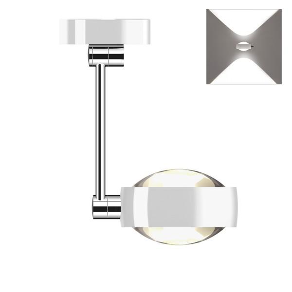 Occhio Sento D LED soffitto singolo up, 30 cm, Chrom / weiß glänzend