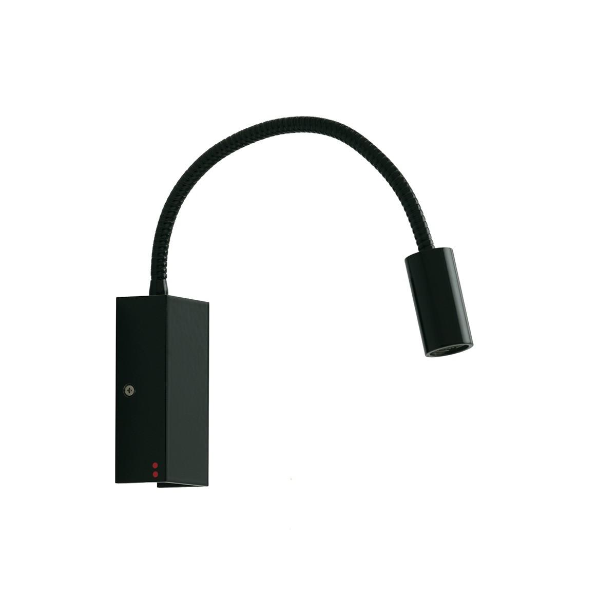 Fabbian Bijou Wandleuchte LED - gerade, schwarz