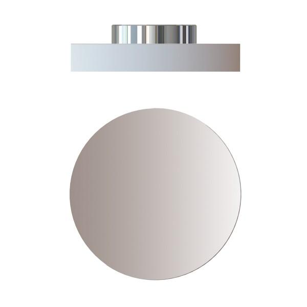 Top Light Allround Flat Wall & Ceiling Outdoor, Ø: 16 cm, Chrom