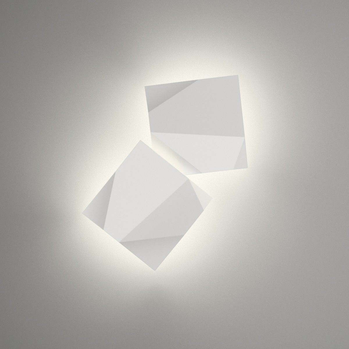 Vibia Origami 4504 Wandleuchte, 2-flg., weiß matt