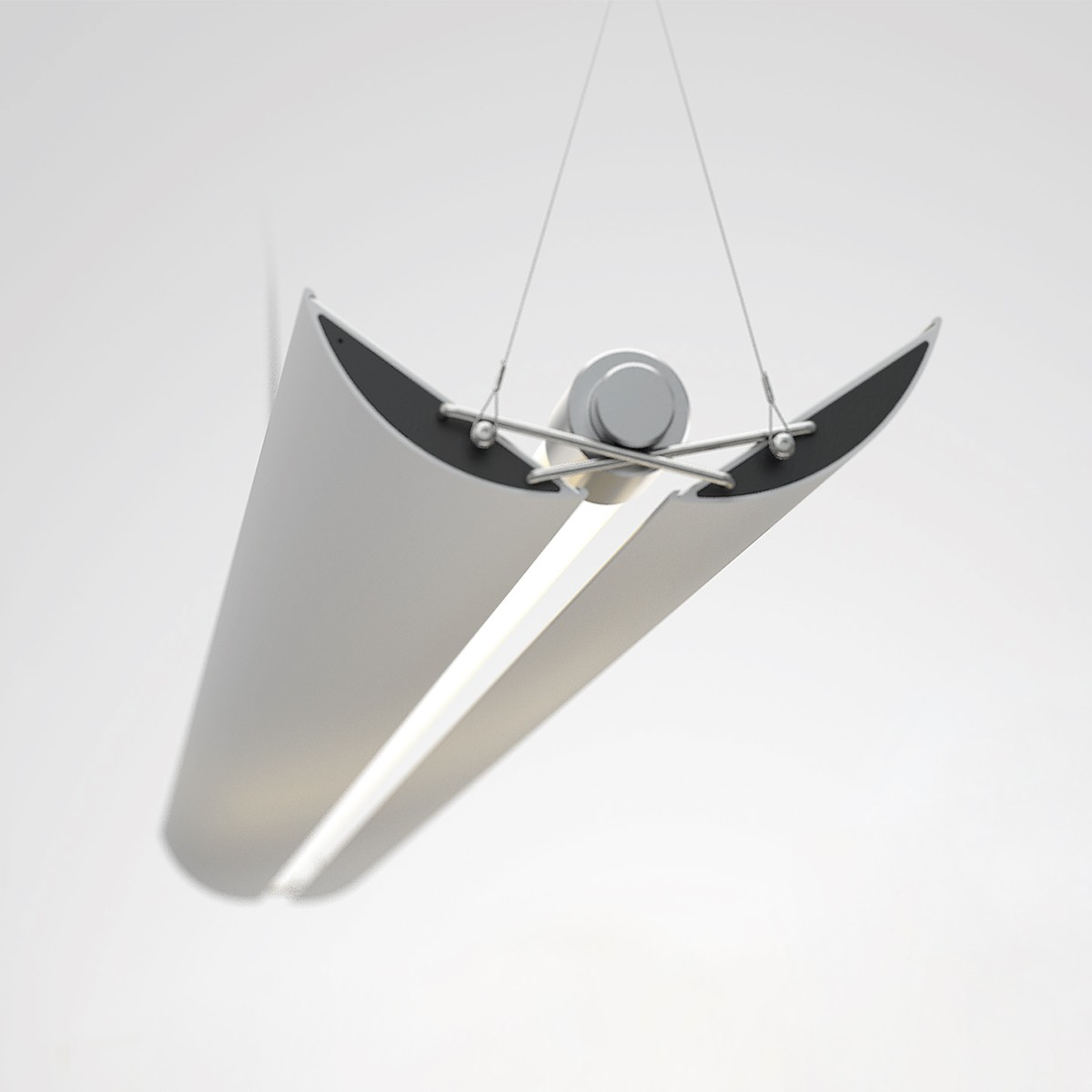 Belux UpDown LED Pendelleuchte 30, 2700 K, Aluminium natur