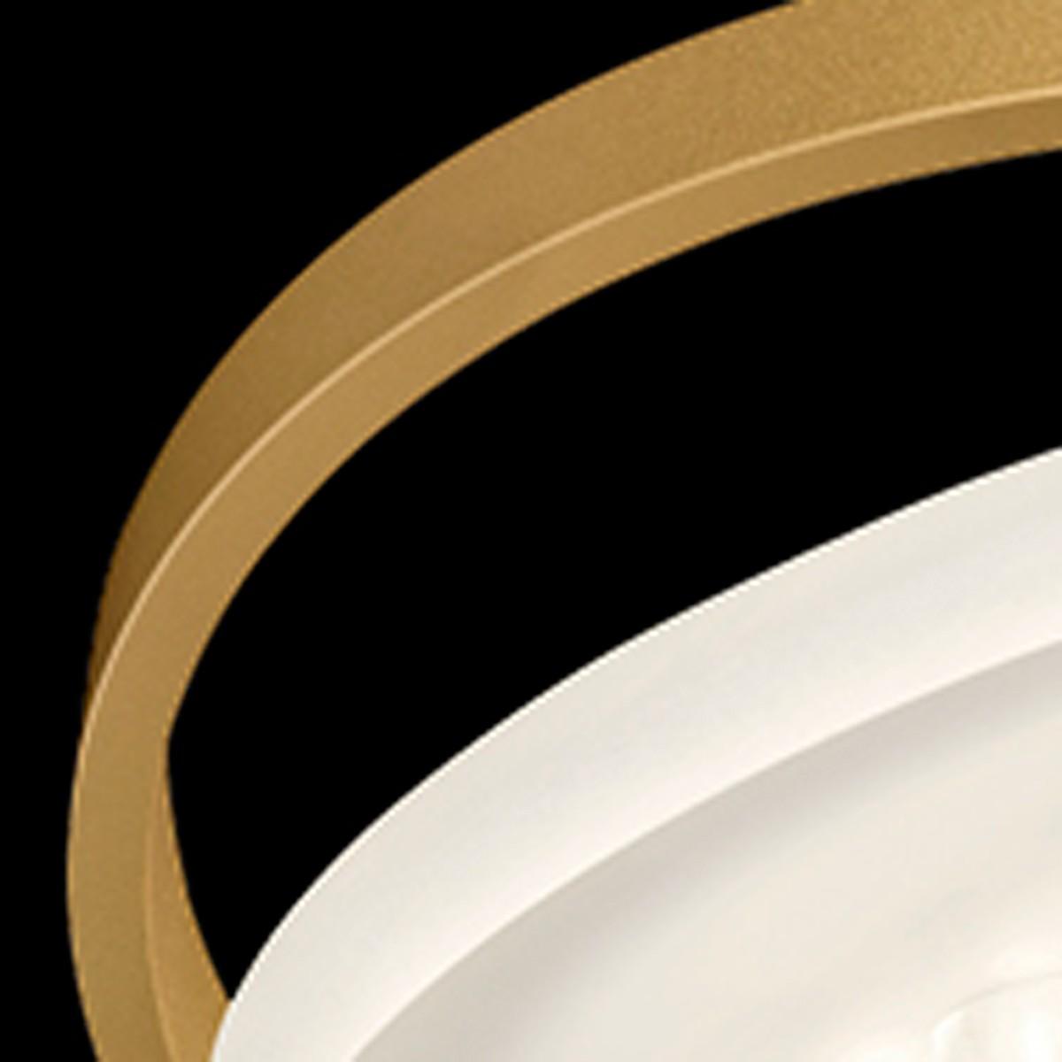 Nimbus Rim R 49 Deckenleuchte, 3000 K, Gold matt eloxiert