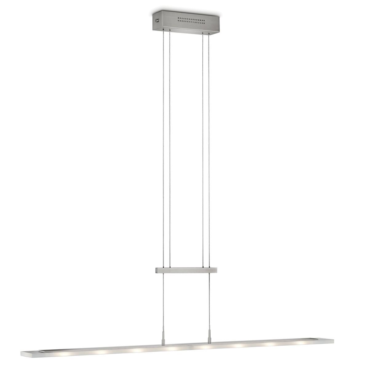 Knapstein 51.45x Pendelleuchte, Länge: 130 cm, Nickel matt