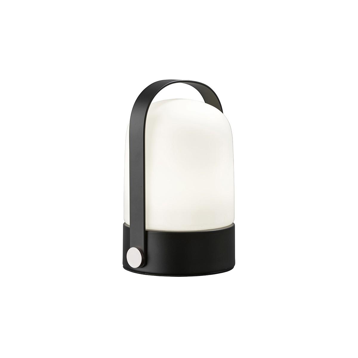 Sompex Soft Tischleuchte, schwarz - Glas: weiß