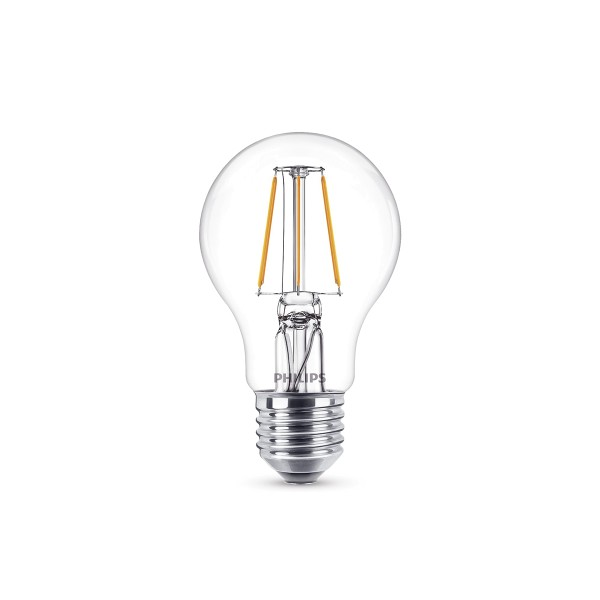 Philips LED Classic Lampe E27 4 W, warmweiß, klar