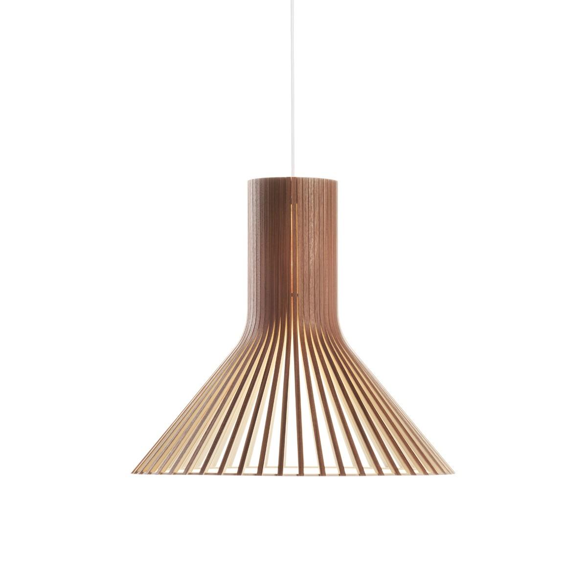Secto Design Puncto 4203 Pendelleuchte, Walnussfurnier, Kabel: weiß