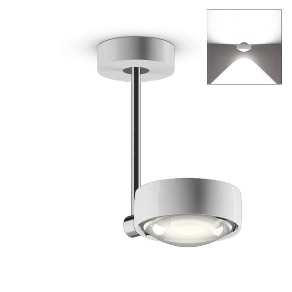 Occhio Sento E LED faro up, 20 cm, Chrom / weiß glänzend