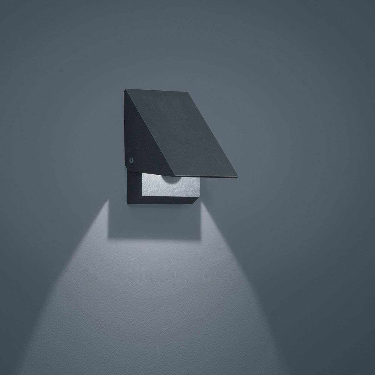 Helestra Free LED Außenwandleuchte, graphit