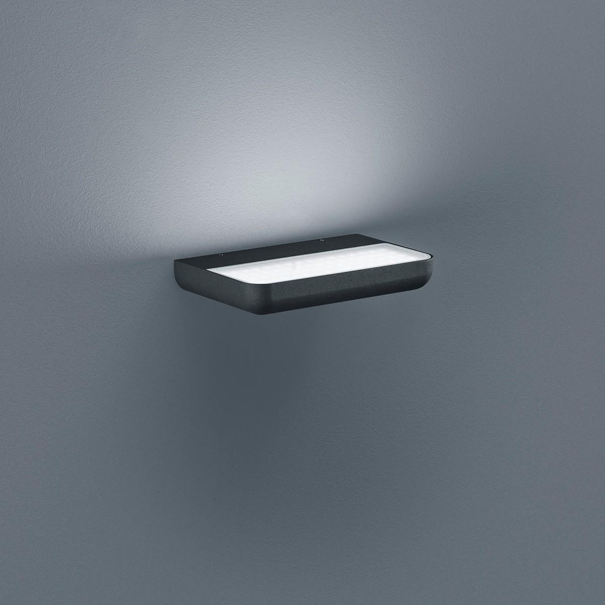 Helestra Snap LED Außenwandleuchte, graphit