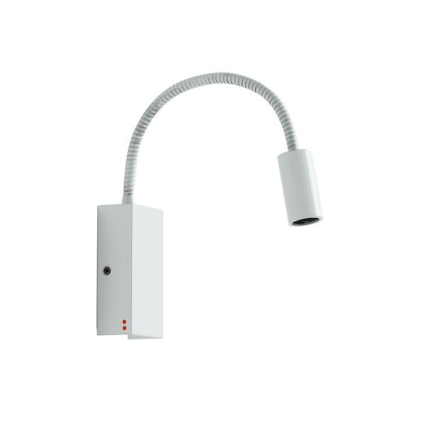Fabbian Bijou Wandleuchte LED, Kopf gerade, weiß (Produktansicht)