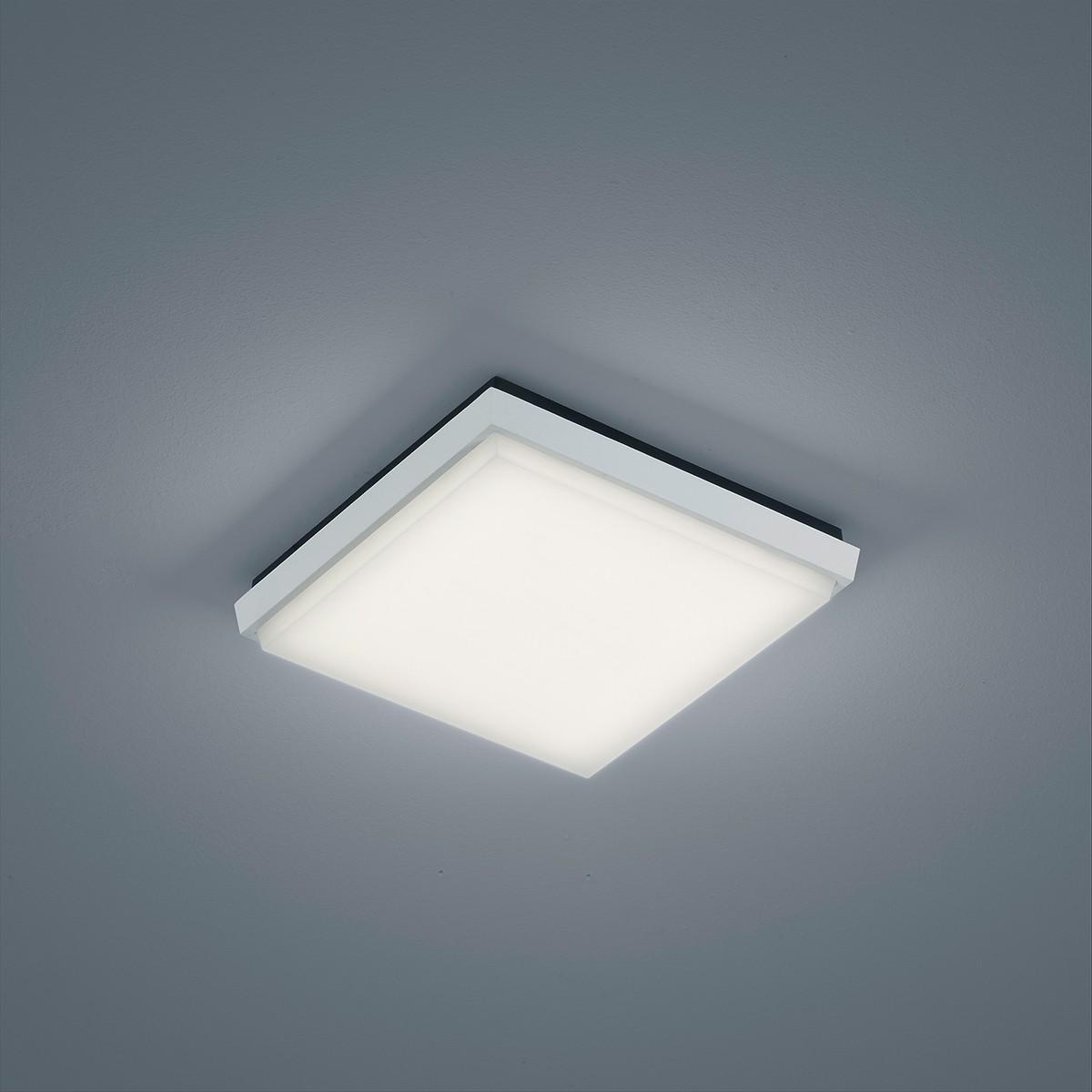 Helestra Sola LED Deckenleuchte, 24 x 24 cm, weiß matt