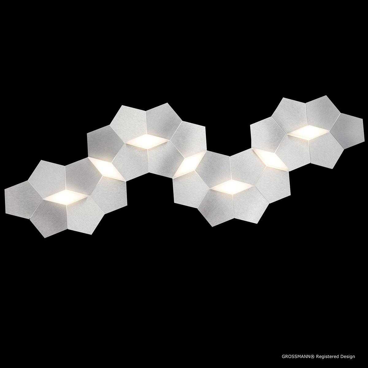Grossmann Linde Wand- / Deckenleuchte, Aluminium, 34,8 x 99,8 cm
