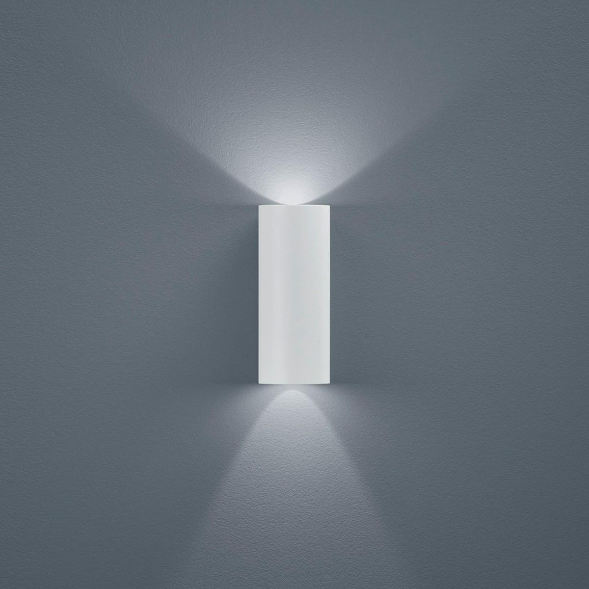 Helestra Swift LED Außenwandleuchte, weiß matt