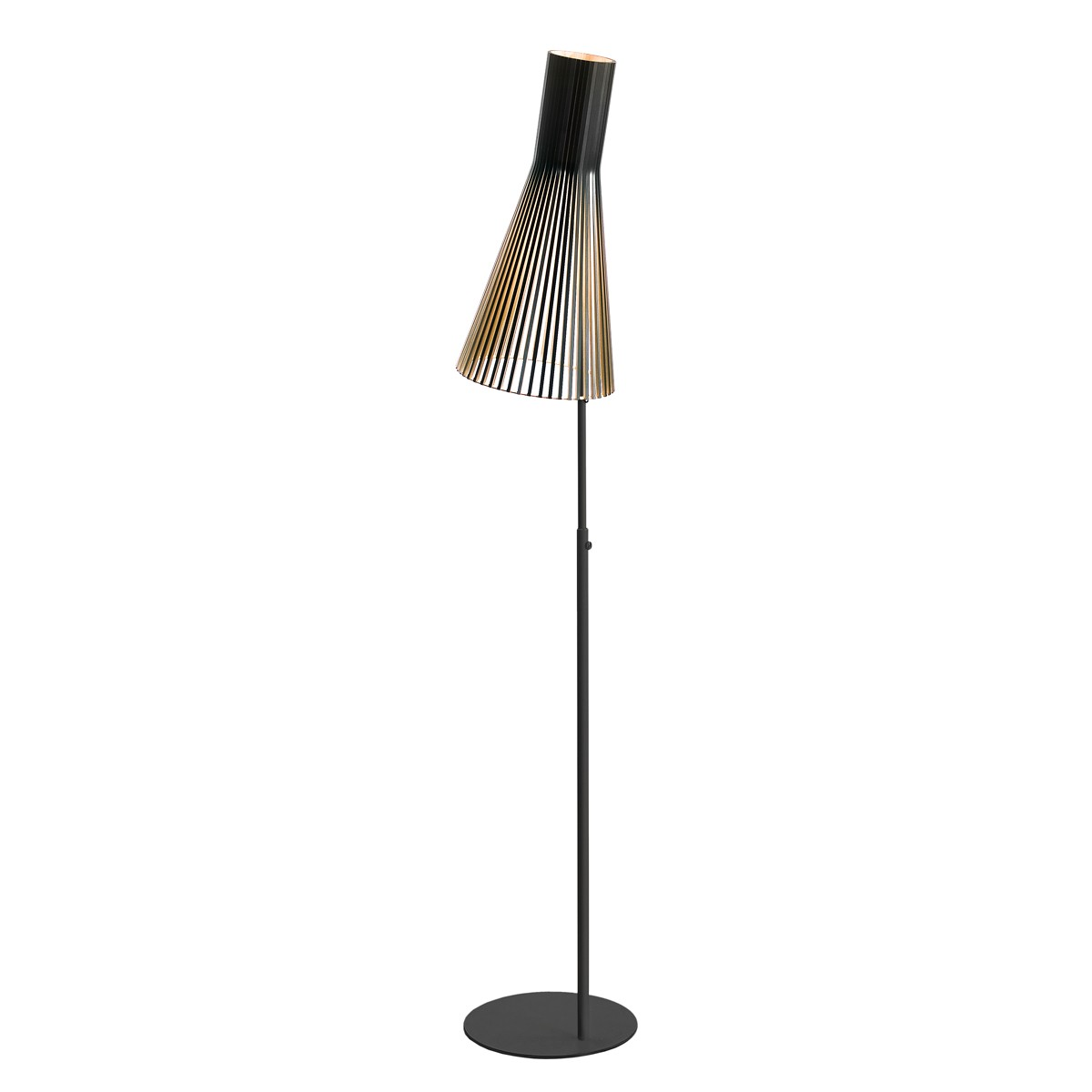 Secto Design Secto 4210 Stehleuchte, schwarz, Schirm: schwarz laminiert