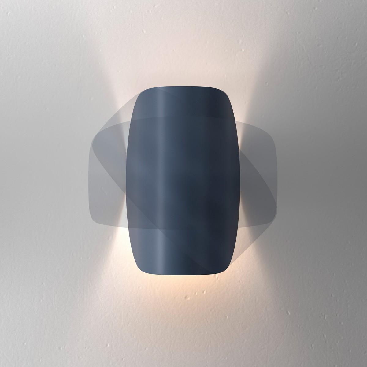 Fontana Arte Io LED Wandleuchte, blau