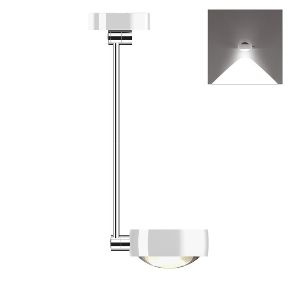 Occhio Sento C LED soffitto singolo up, 60 cm, Chrom / weiß glänzend