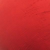 PostKrisi Tischleuchte, Ø: 20 cm, Höhe: 65 cm, Schirm: rot, Gestell: Nickel