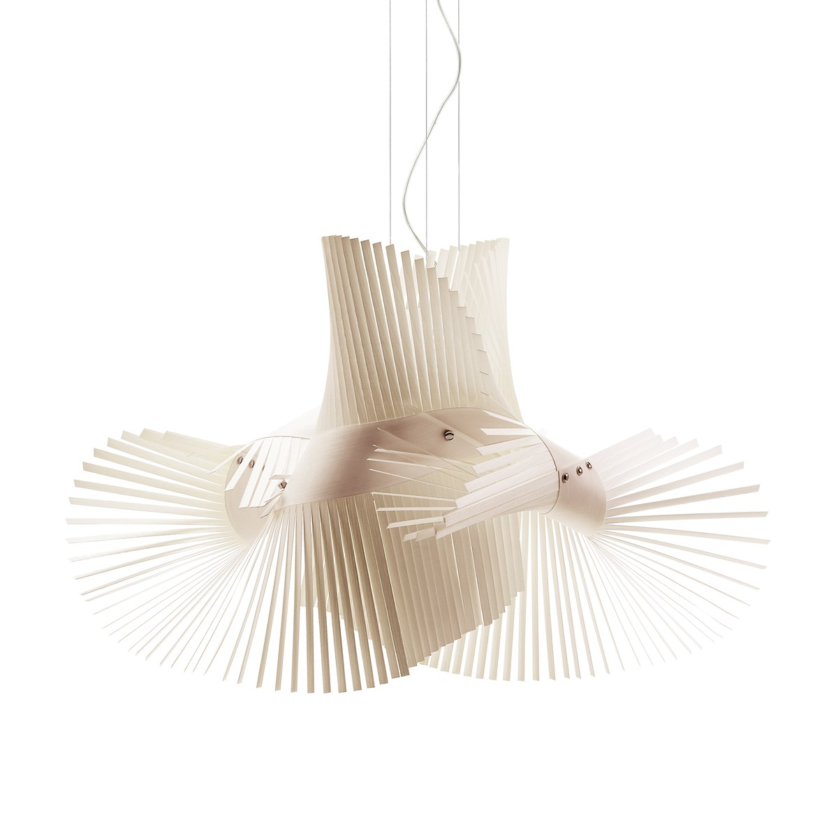 LZF Lamps MiniMikado Pendelleuchte, elfenbeinweiß