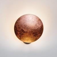 Lederam W1 Wandleuchte, Ø: 17 cm, Scheibe: Kupfer