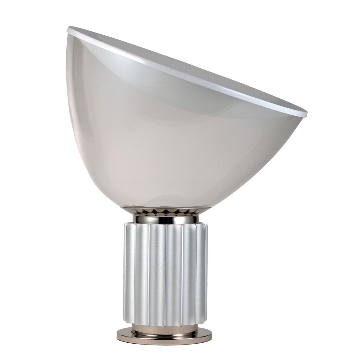 Flos Taccia Tischleuchte PMMA, Silber eloxiert