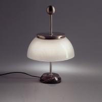 Artemide Design, Alfa Tavolo, Nickel / schwarz