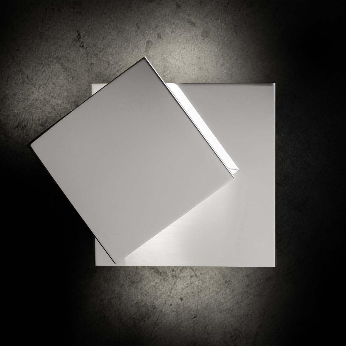 Holtkötter Leuchten Cubic Wandleuchte LED, Aluminium poliert