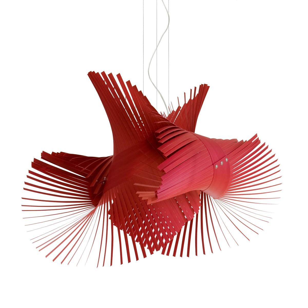 LZF Lamps MiniMikado Pendelleuchte, rot