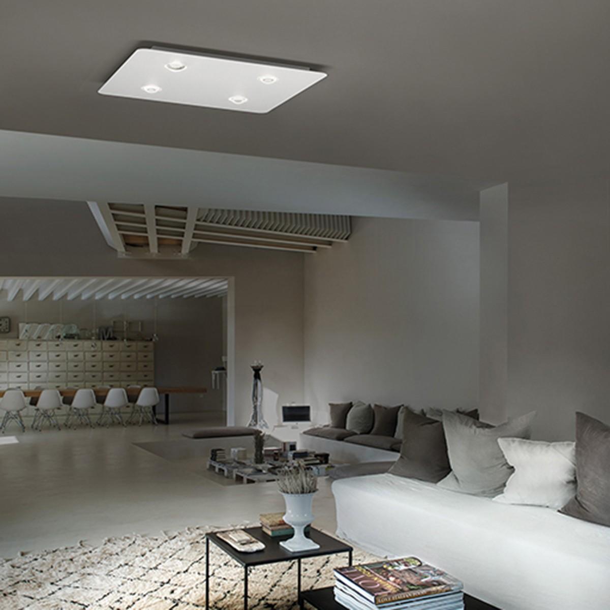 Studio Italia Design Frozen Large Deckenleuchte, weiß matt, 2700 °K