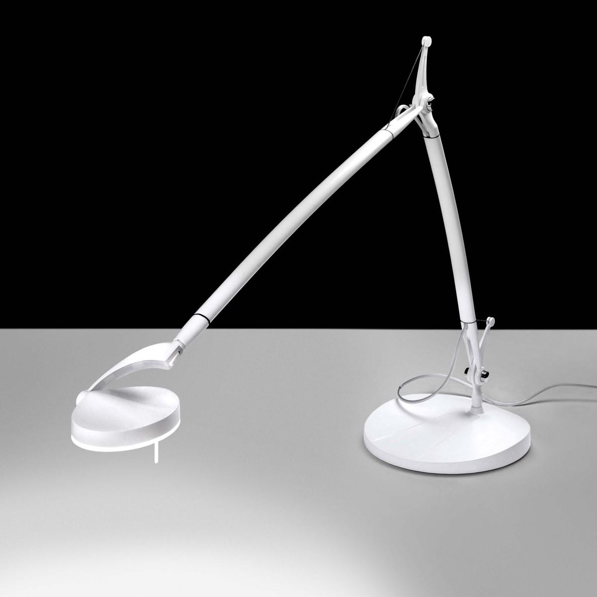 Milan Perceval LED Tischleuchte, weiß lackiert
