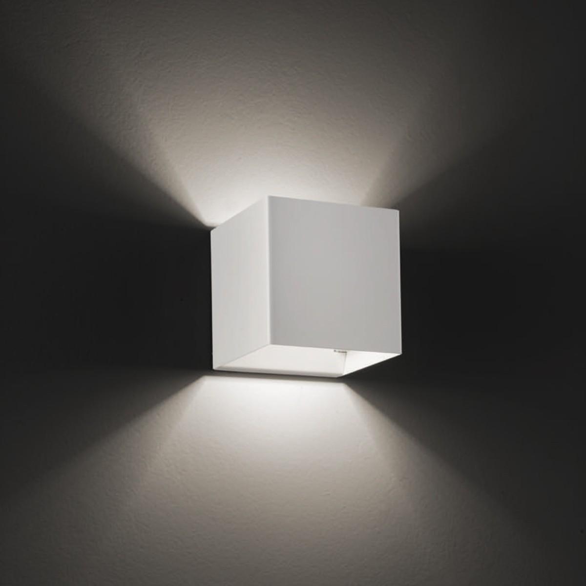 Studio Italia Design Laser Cube 10 x 10 LED Wandleuchte, 2700° K, weiß matt