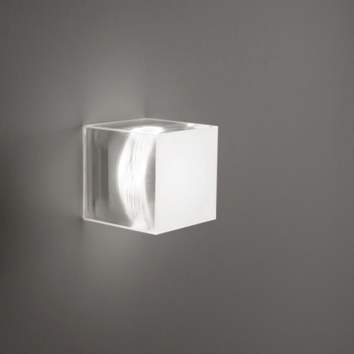 Studio Italia Design Beetle Cube Wand- / Deckenleuchte, Mini, weiß / transparent