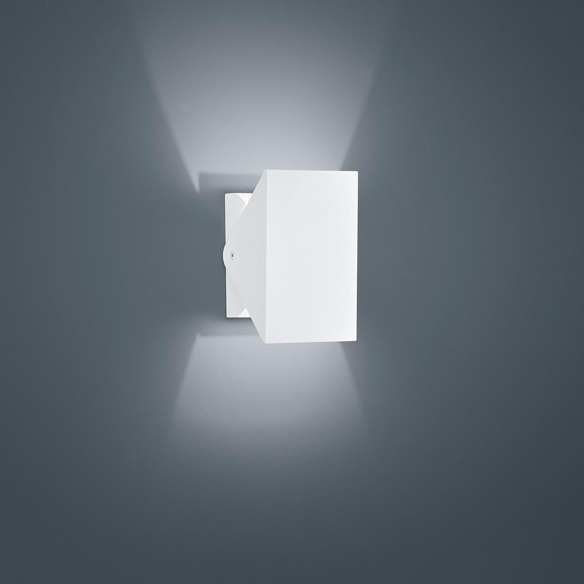 Helestra Free LED Außenwandleuchte, weiß matt