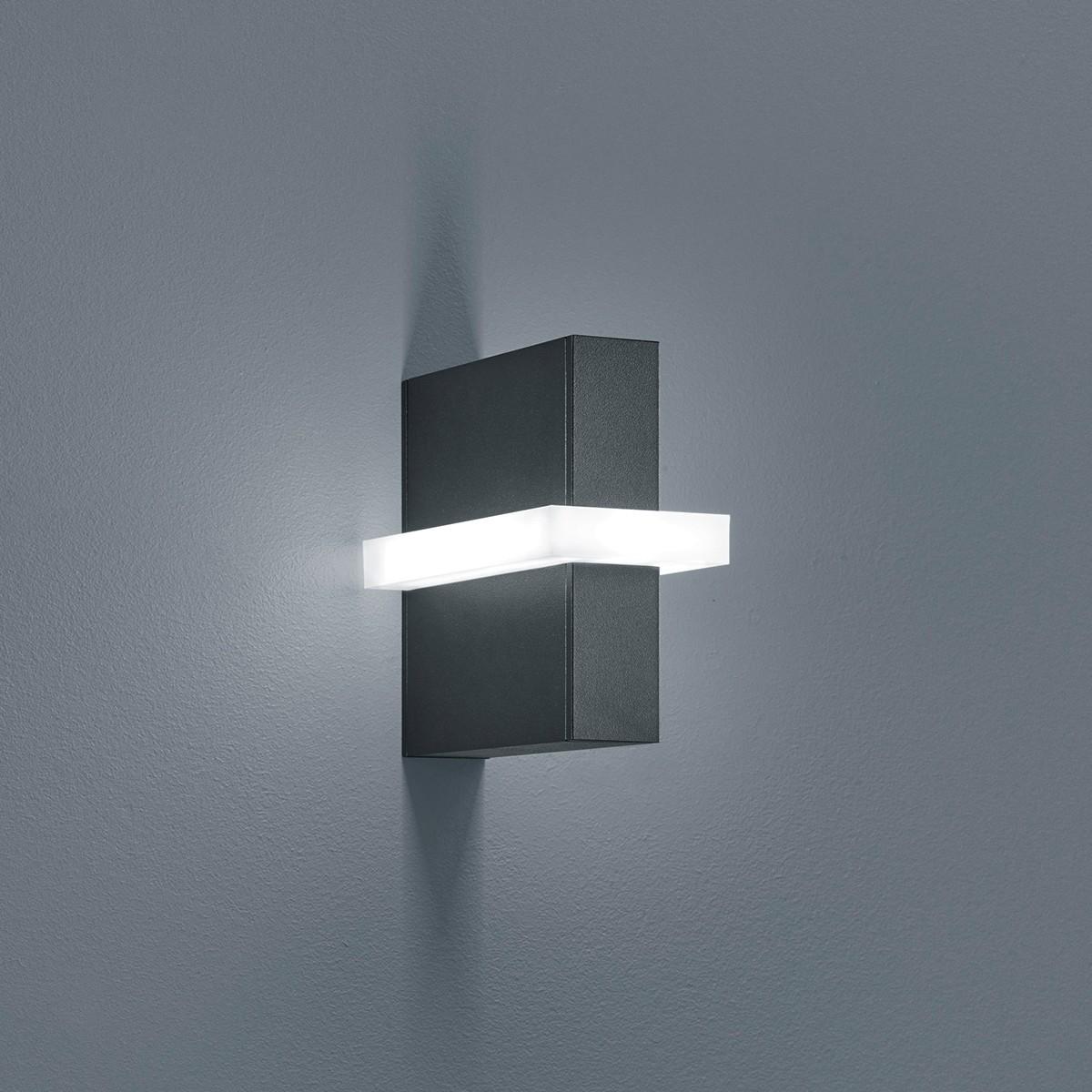 Helestra Oki LED Außenwandleuchte, graphit