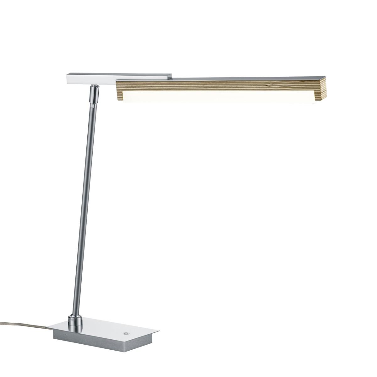 B-Leuchten Stripe Tischleuchte, Multiplex / Nickel matt
