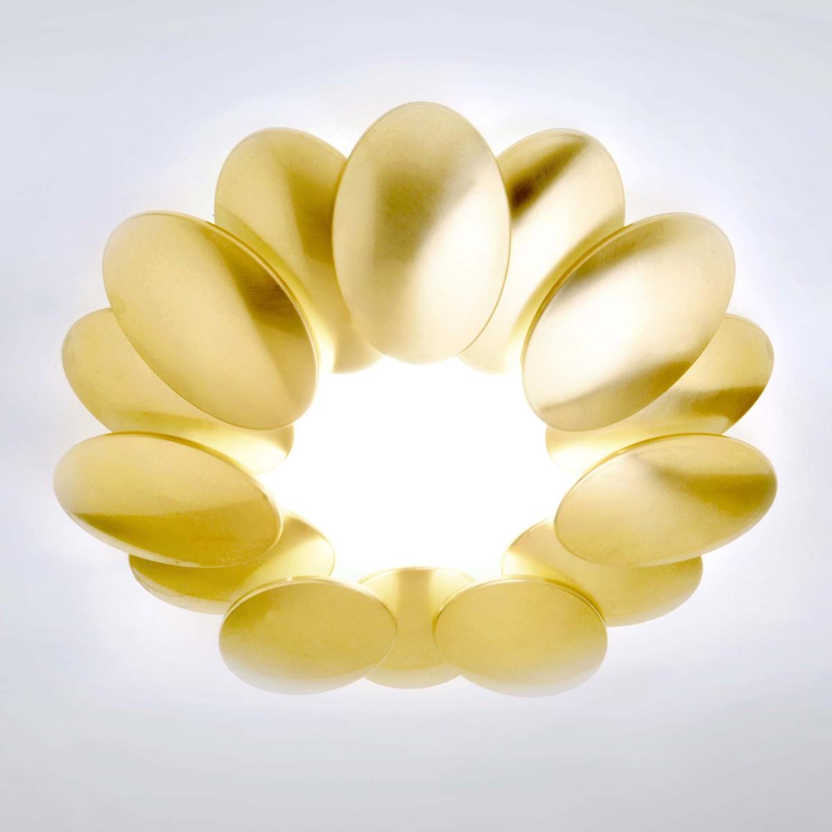 Milan Obolo Deckenleuchte, Ø: 42,4 cm, Goldoptik gebürstet