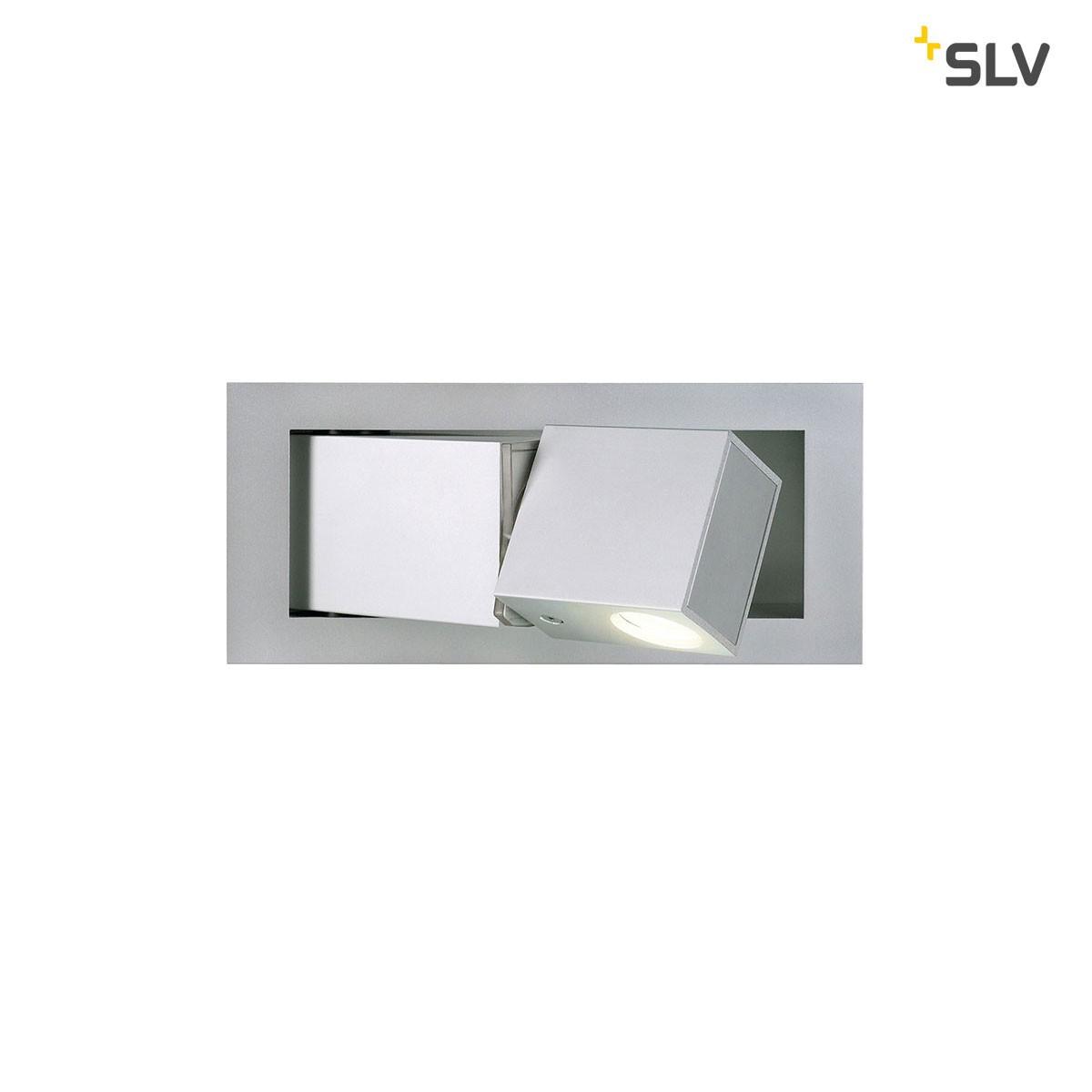 SLV Bedside Wandleuchte, Ausführung: rechts, 3000° K, silbergrau