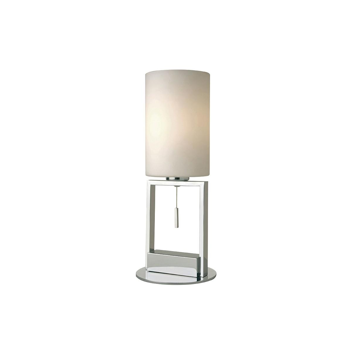 Sompex Fine Tischleuchte, Chrom, Glas: weiß