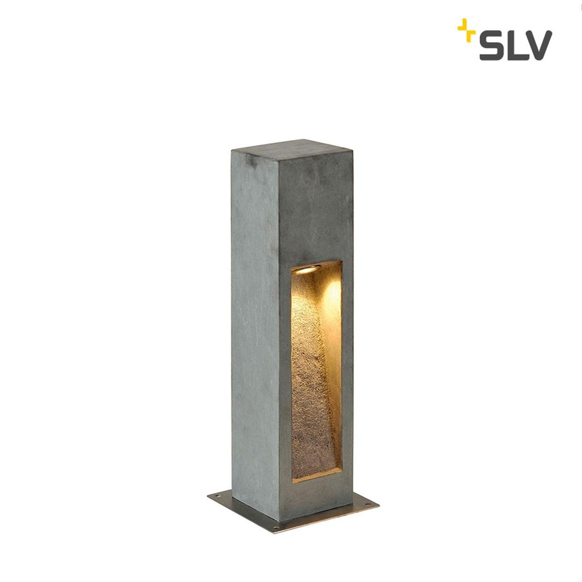 SLV Arrock Stone LED Außenstehleuchte, Höhe: 50 cm, steingrau