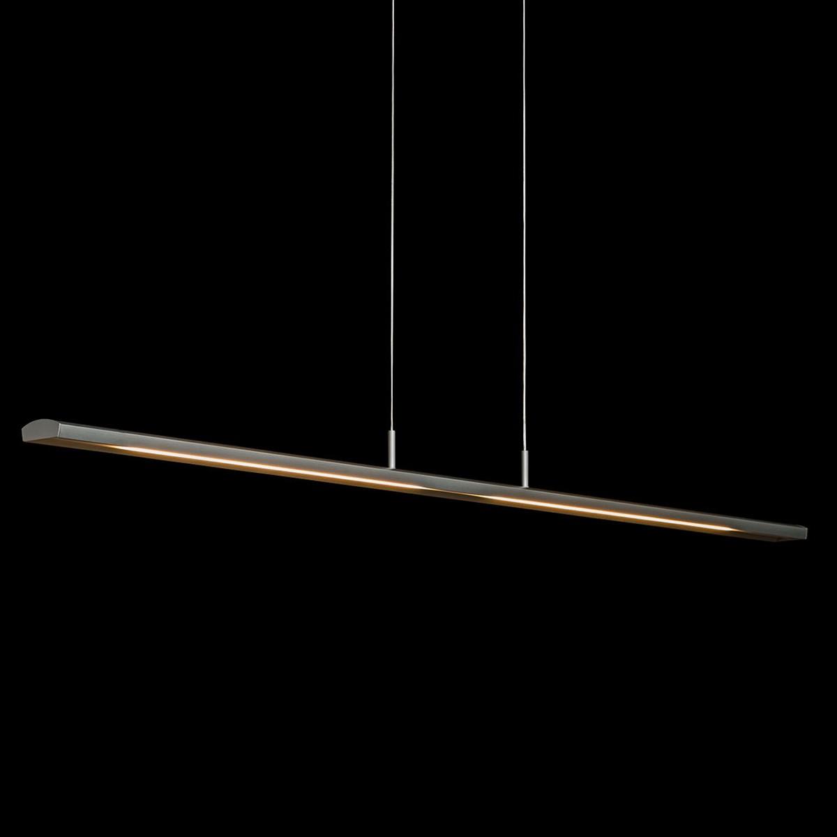 Holtkötter Leuchten Alpha Pendelleuchte mit Casambi-Modul, Länge: 125 cm / Silber matt