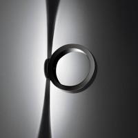Assolo Parete / Soffitto, schwarz, mit runder Wandplatte