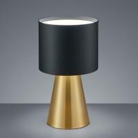 Helestra Bito LED Tischleuchte, Messing matt / schwarz