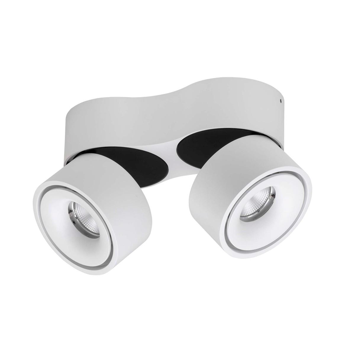 Lumexx Easy Double LED Wand- / Deckenleuchte, weiß/schwarz