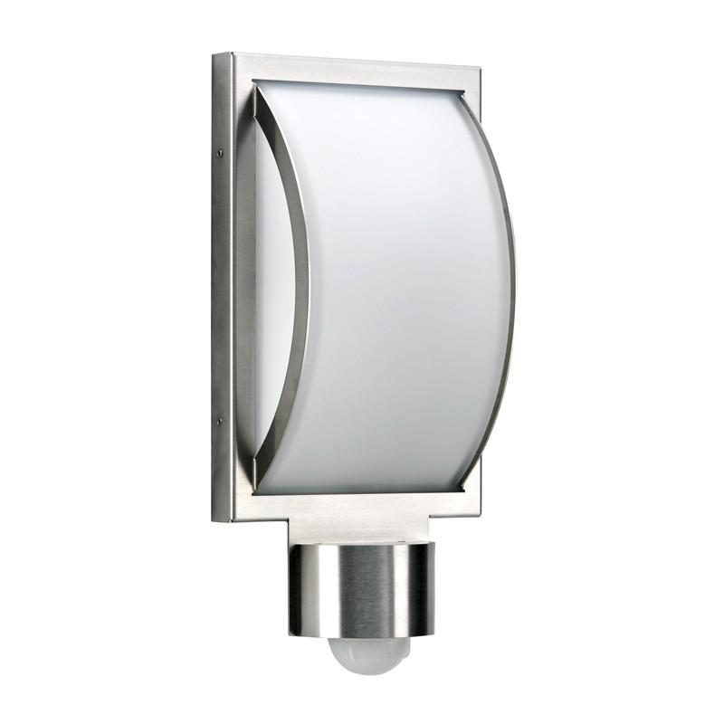 Albert 69639 Außenwandleuchte LED, Edelstahl, mit Bewegungsmelder