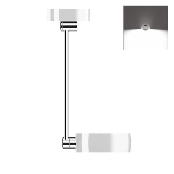 Occhio Sento B LED soffitto singolo up, 40 cm, Chrom / weiß glänzend